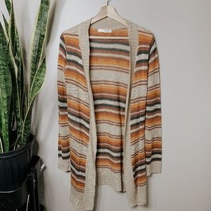 • SAY WHAT • fall colored long striped cardigan